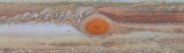 диаметр красного пятна Юпитера сокращается